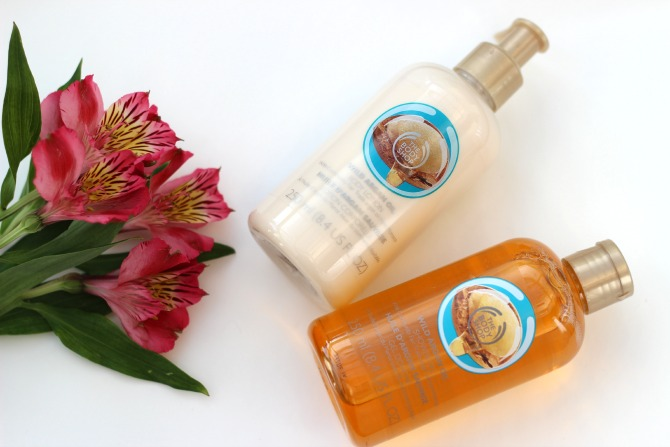 Body Shop Wild Argan bath products
