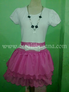 Desain Dress Spandex Kombinasi Brokat