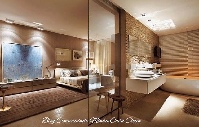 Preferência Construindo Minha Casa Clean: Quartos Integrados com Banheiros de  OR19