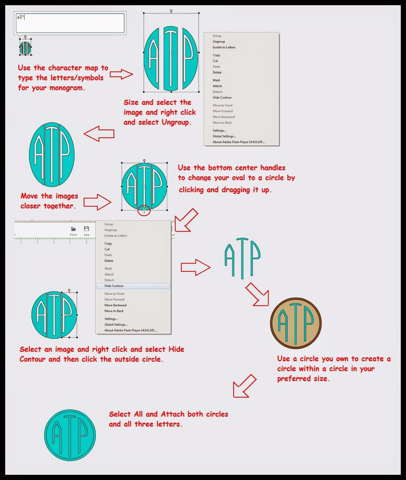 Around the Block with scrapalette: Free Circle Monogram to ...