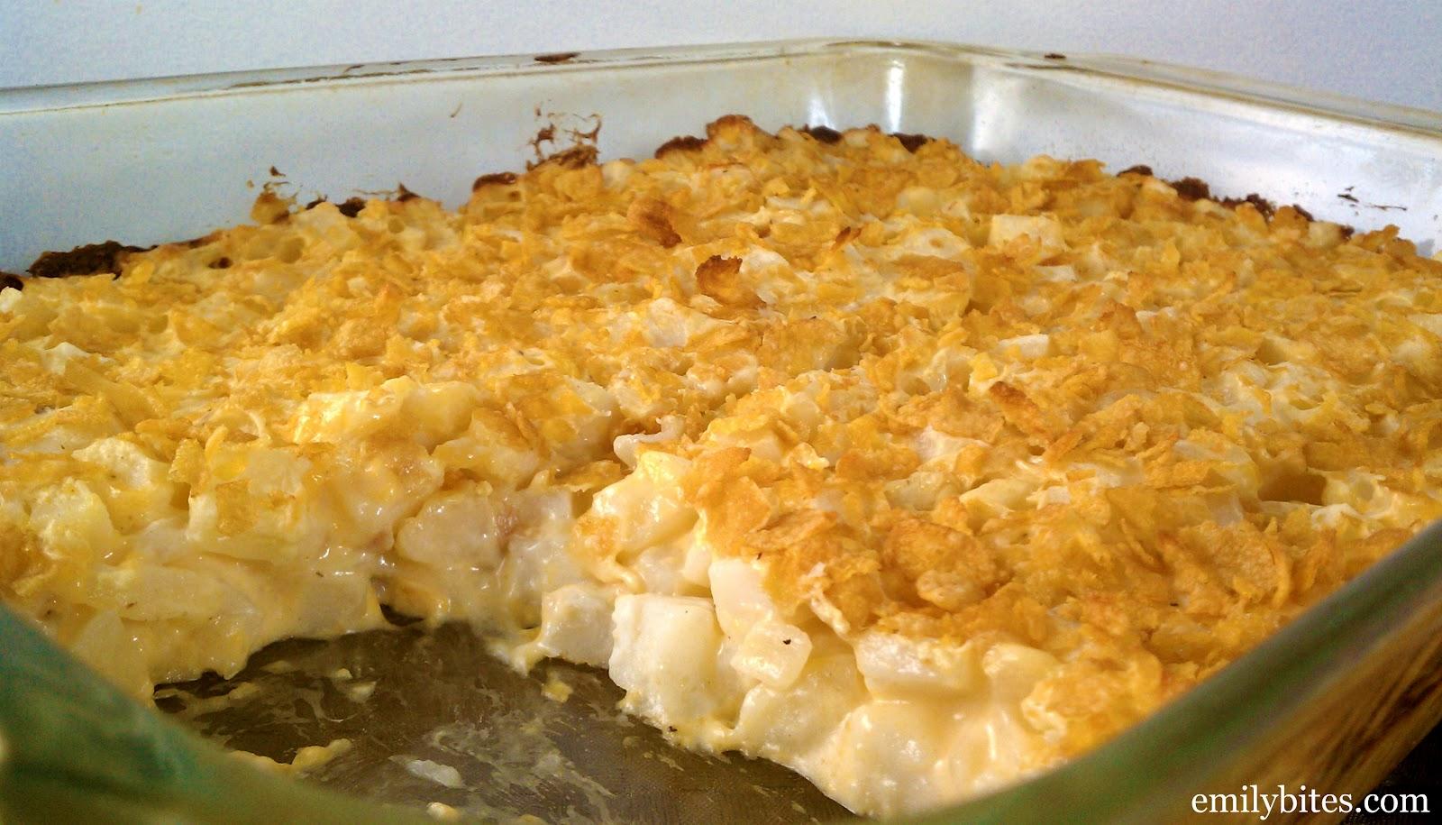 Cheesy Potluck Potatoes - Emily Bites