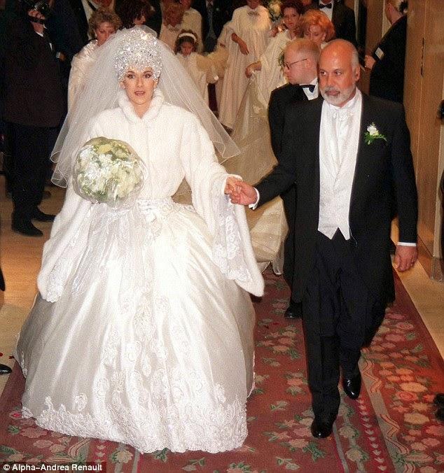 Vestido de novia de Celine Dion en 1994