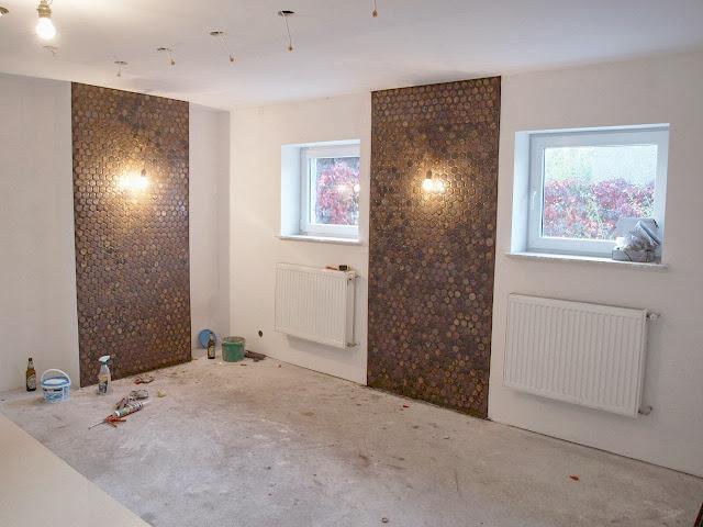mozaika ceramiczna remont domu pomysł na ścianę murator elewacja