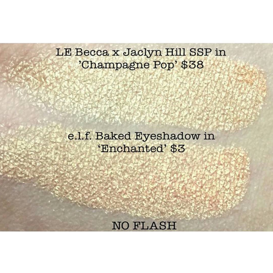 """Here are swatches comparing Becca x Jaclyn Hill """"Champagne Pop"""" next ..."""