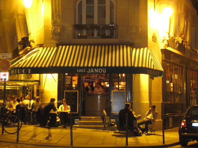 Entrance to Chez Janou, Paris