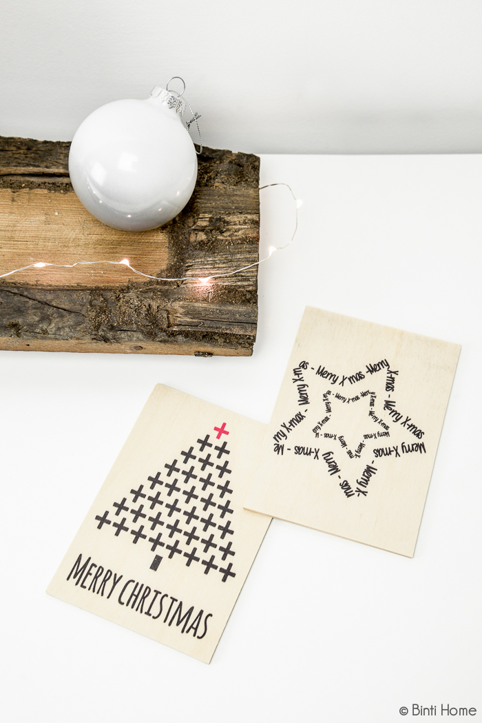 Kerstkaart hout Zoedt | Binti Home
