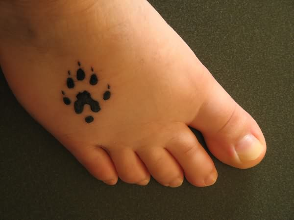 Paw Feet Tattoos for Girls