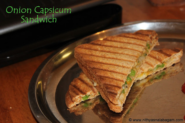 Easy Onion Capsicum Sandwich