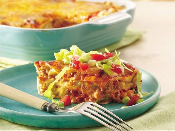 My Favorite Things: Layered Chile-Chicken Enchilada Casserole