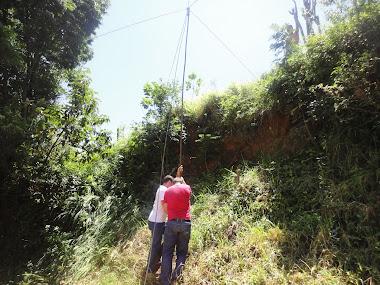 Ajustando a antena do guerreiro MG