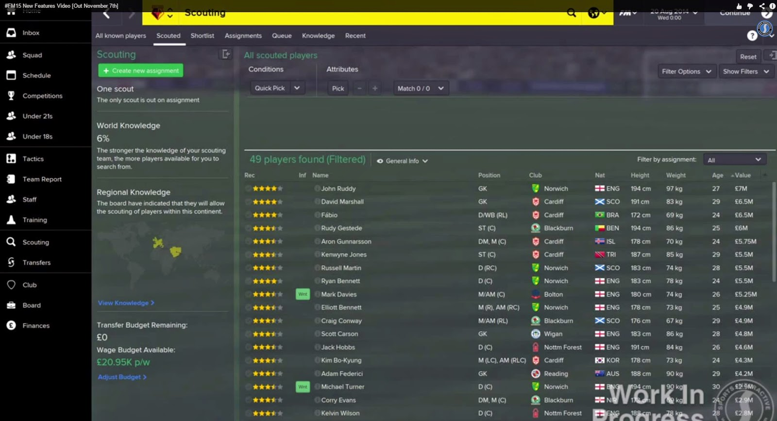 football manager 2015 features player search