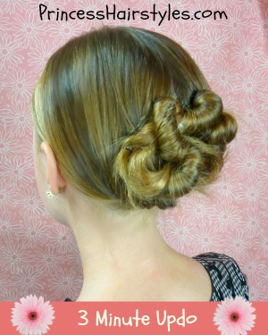 3 minute updo - hairstyles
