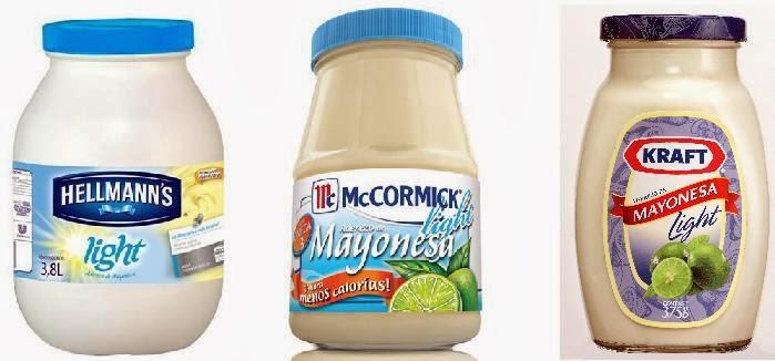 calorias mayonesas light