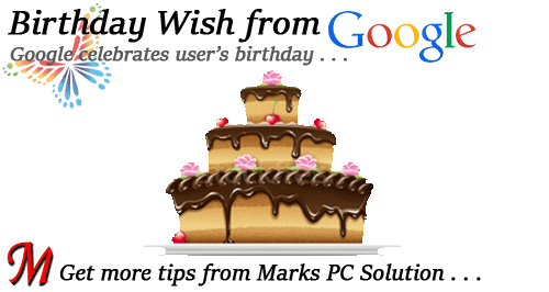 Google Celebrates Users' Birthday