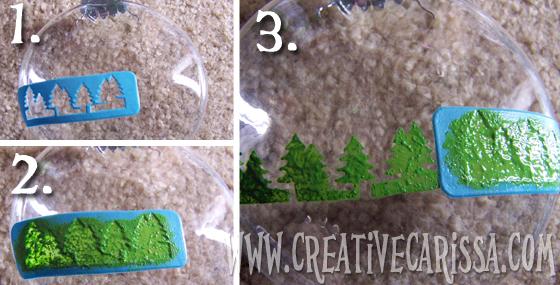 @creativecarissa stenciling small trees #NUO2012