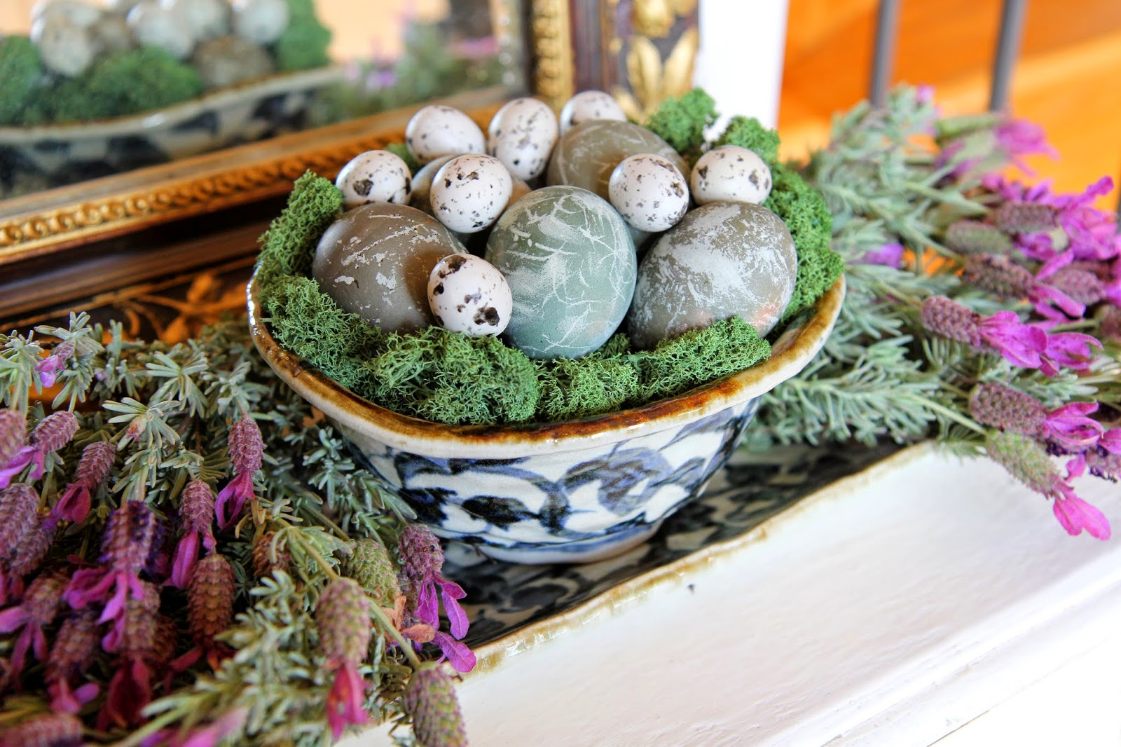 Naturally Dyed Easter Eggs with Lavender; Easter Eggstravaganza; Nora's Nest