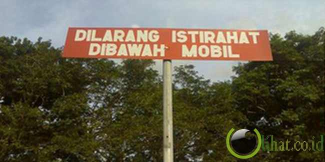 Rambu Lalu Lintas Unik dan Aneh di Indonesia