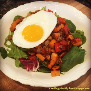 21 Day Fix approved sweet potato hash is packed with protein and easy to make