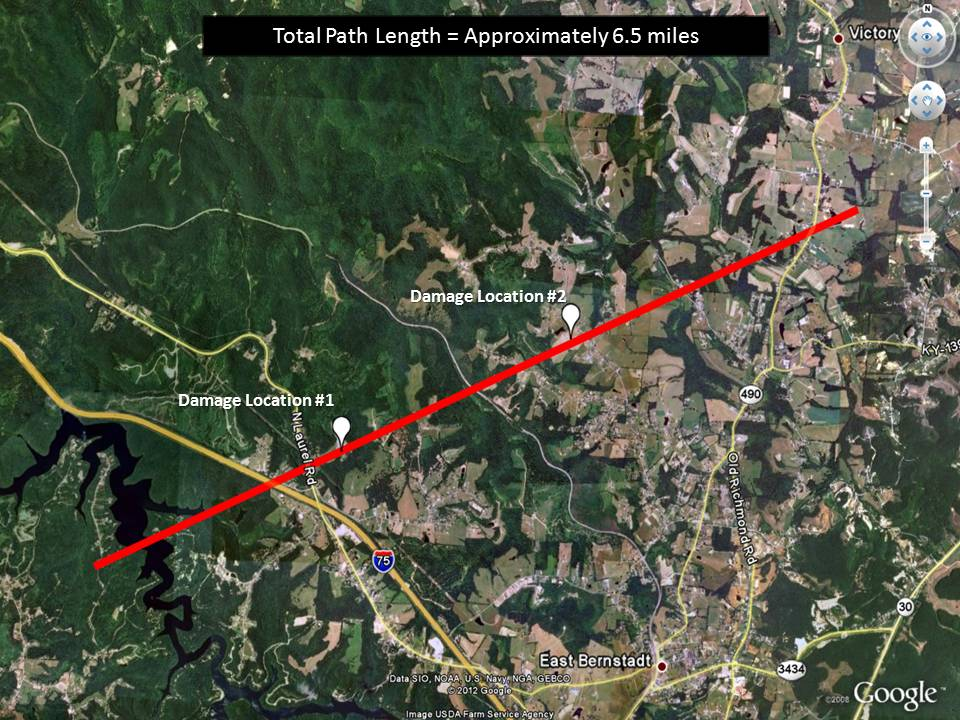 The Above Track Map Is Via The Nws Survey And The Corresponding Groups Of Damage Photos Are Shown Below
