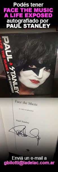 """Face the Music: A life Exposed"" firmado por Paul Stanley. Puede ser tuyo."