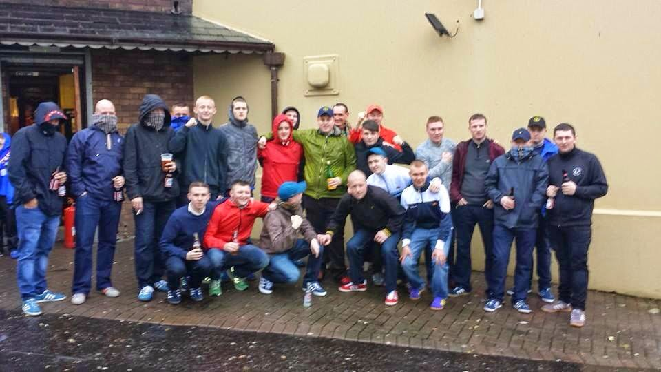Football Hooligan Pictures: TWO PICTURES: Linfield Section F Youth