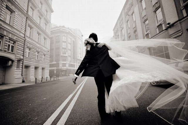 жених и невеста и фата