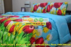 Harga Bedcover Set (sprei+bedcover) Flora 180x200x20 (ki Jual