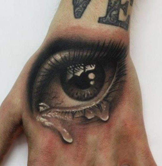 Home tattoos on hand 3d eye tattoo on hand