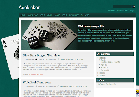 Ace Kicker Blogger Theme