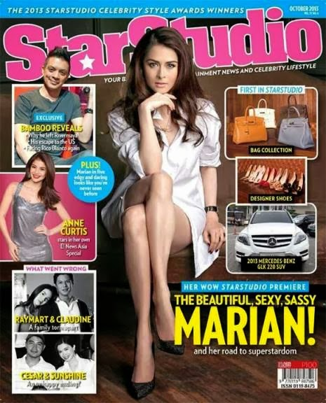 Marian Rivera, Celebrity Style Awards and Bamboo's Renewed Friendship with Rico Blanco on Star Studio October 2013 Issue