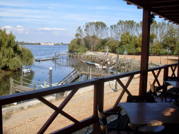Vista do restaurante para o Tejo