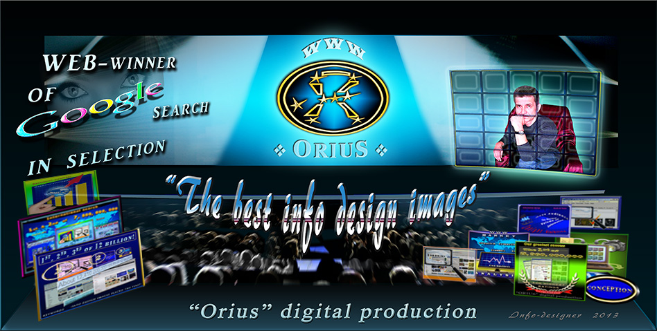"Picture shows the best info design images produced by  info design studio ""Orius"" digital production"