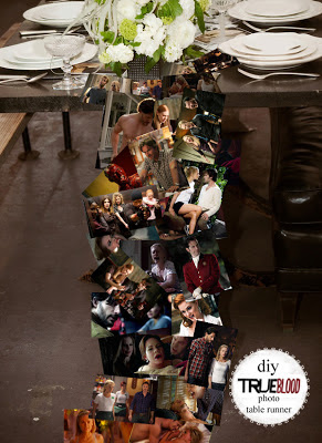 Northmans Party Vamps True Blood Photo Table Runner