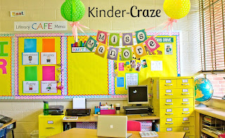 bright and cheery kindergarten classroom
