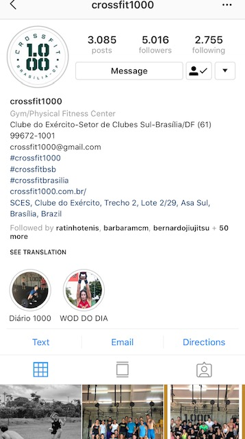 Instagram CrossFit 1000
