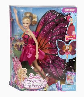 Barbie Mariposa Principessa delle Fate  Mattel  giocattolo Natale 2013 Y6372