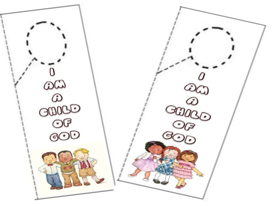 Didi relief society i am a child of god door hanger for Idea door relief society