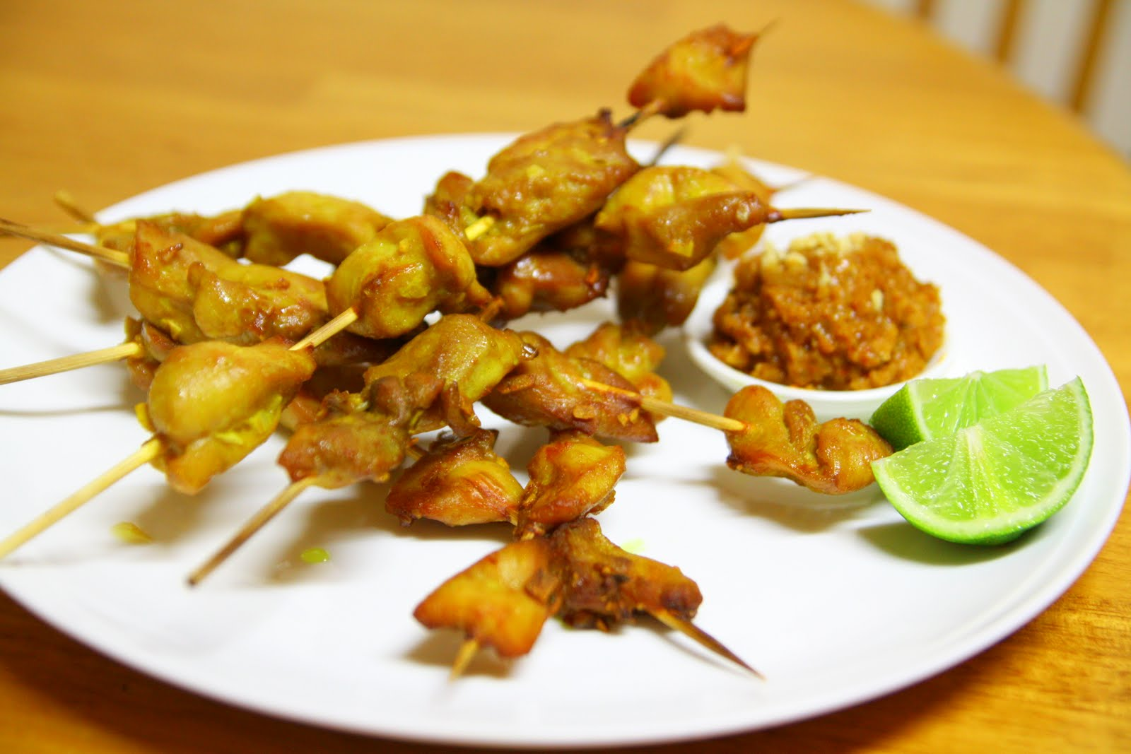 One Wok, One Pot, One Pan: Classic Chicken Satay Skewers