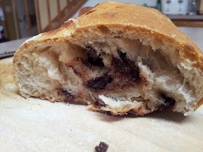 The inside of the delicious slightly sweet bread
