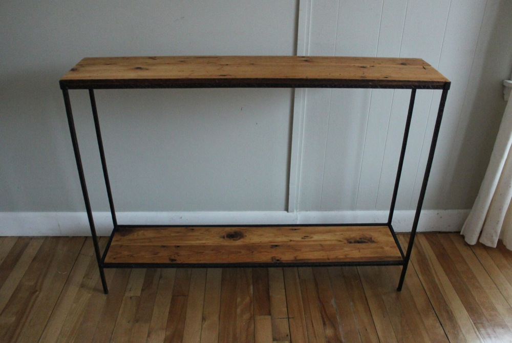 blue lamb furnishings reclaimed wood metal console