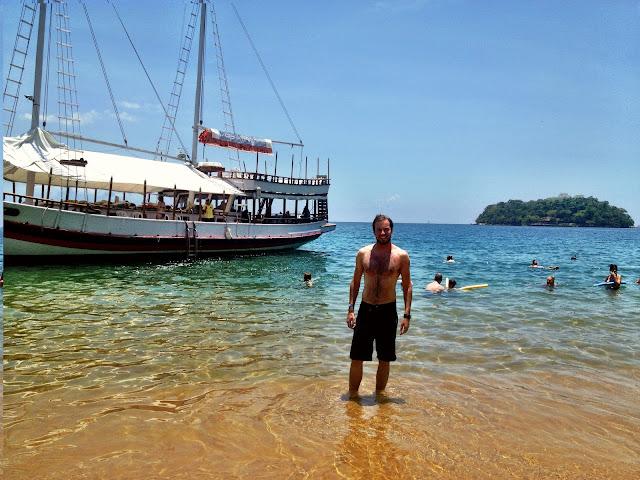 Simon at a small island near Paraty