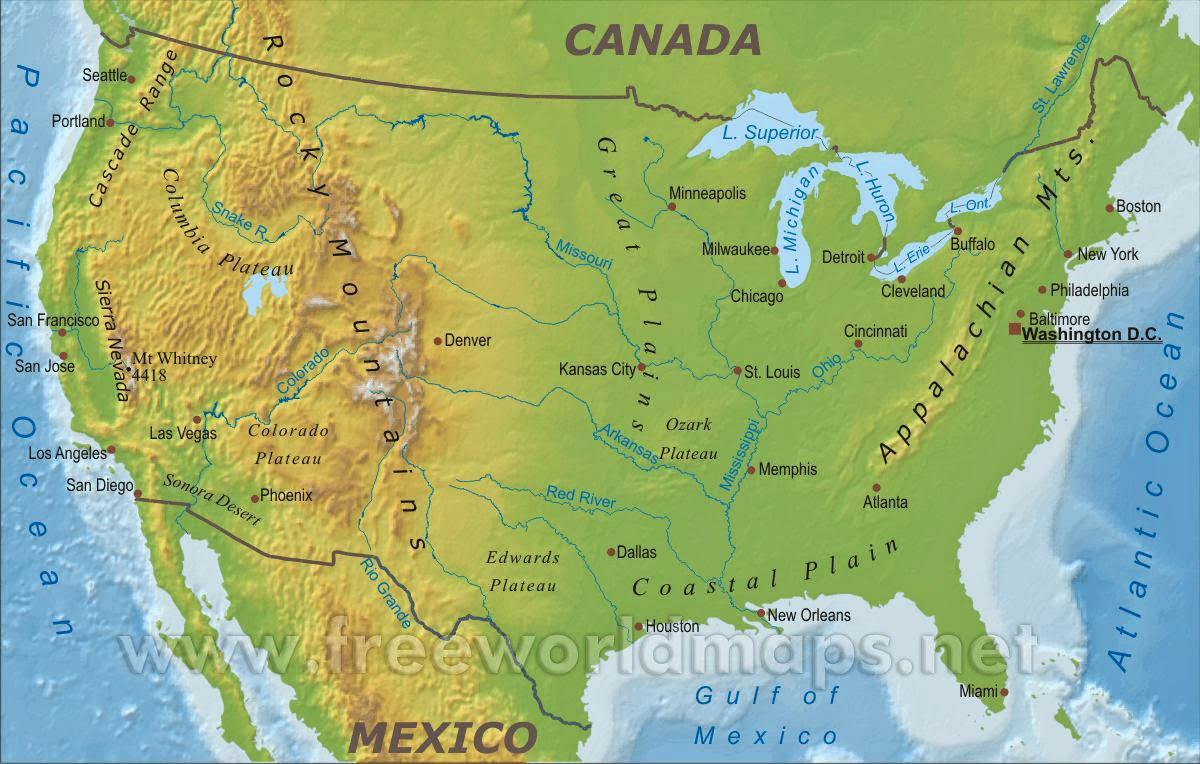 Gambar : Peta Negara Amerika ...