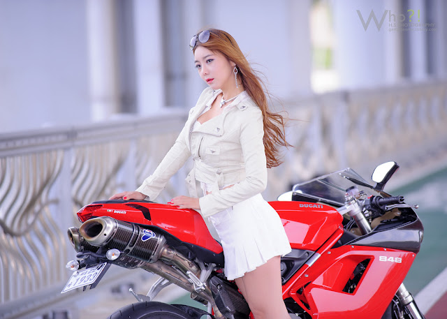 6 Jo Ye Jin and Ducati-very cute asian girl-girlcute4u.blogspot.com