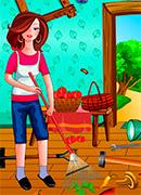 Уборка в доме на ферме онлайн игра