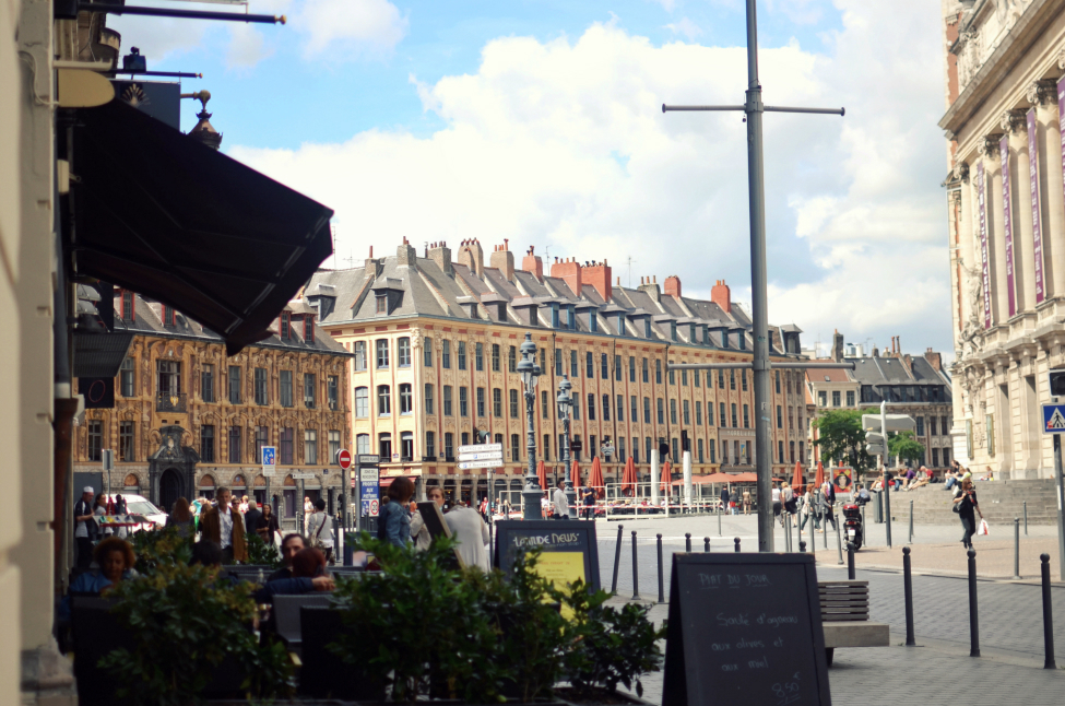 a picture of the Place du Theatre in Lille France