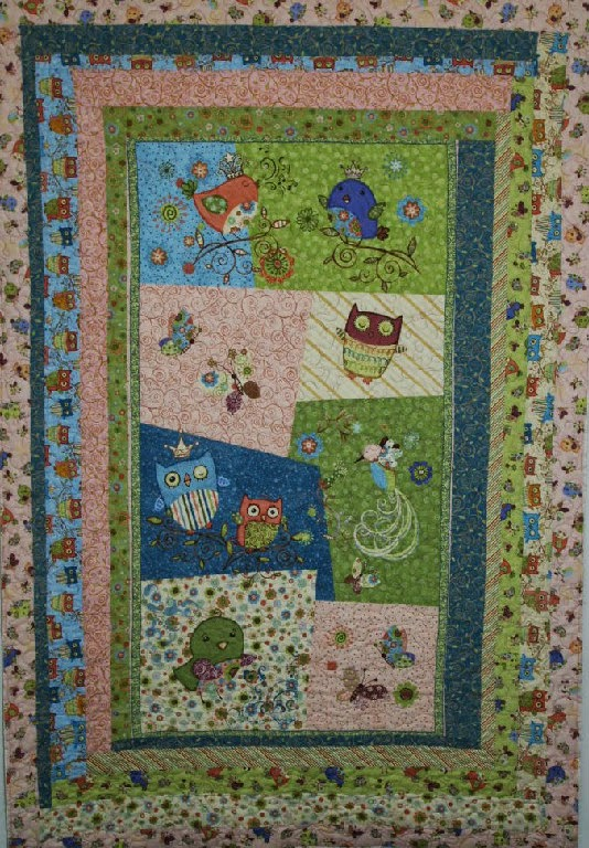 Betty Meadows's Nightly Night Owl Baby Quilt