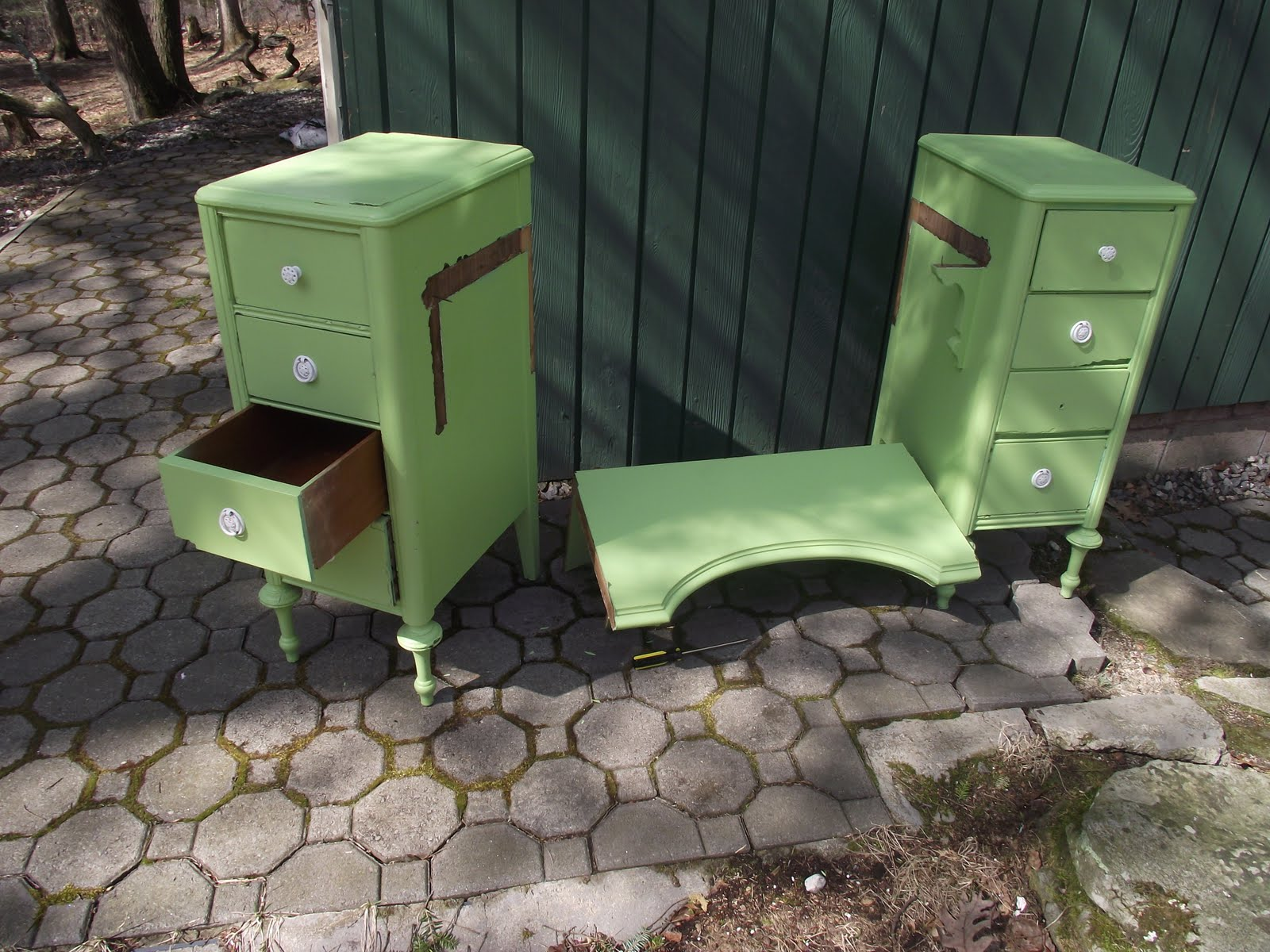 Serendipity chic design nightstands made from a vanity nightstands made from a vanity geotapseo Gallery
