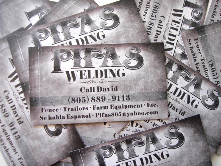 pifas welding business cards - Welding Business Cards