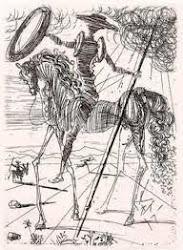 Dalí dibujo tinta