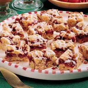 RecipeReview Raspberry Nut Bars